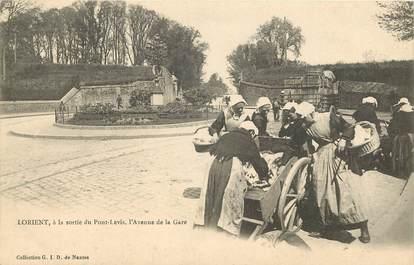 """CPA FRANCE 56 """"Lorient, à la sortie du Pont Levis, l'Avenue de la gare"""""""