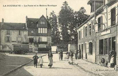 """CPA FRANCE 77 """"La Houssaye, la Poste"""""""