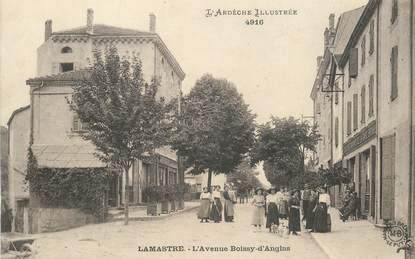 ".CPA  FRANCE 07 ""Lamastre, L'Avenue Boissy d'Anglas"""