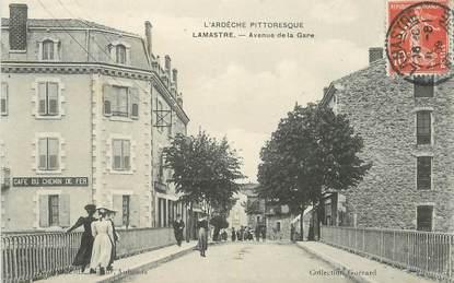 """.CPA  FRANCE 07 """"Lamastre, Avenue de la Gare"""""""