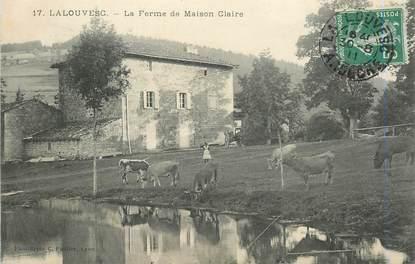 """.CPA  FRANCE 07 """"La Louvesc, La ferme de Maison Claire"""""""