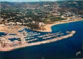 """83 Var / CPSM FRANCE 83 """"Bormes les Mimosas, port de Bormes et plage du Lavandou"""""""