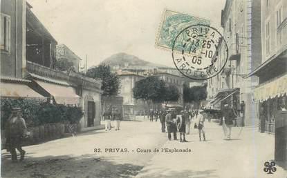 """.CPA  FRANCE 07 """"Privas, Cours de l'Esplanade"""""""