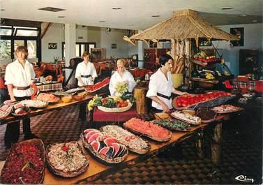 """/ CPSM FRANCE 83 """"Bormes Les Mimosas, village de vacances de la Vanne, le restaurant"""""""