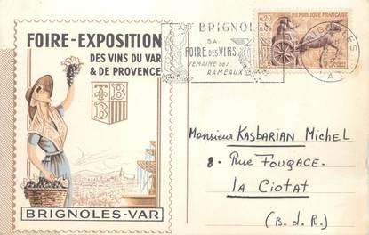 """/ CPSM FRANCE 83 """"Brignoles, foire exposition des vins du var"""""""