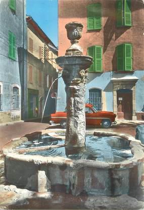 """/ CPSM FRANCE 83 """"Brignoles, la vieille fontaine de la place Jean Reynaud """""""