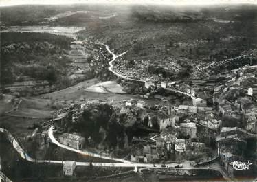 """/ CPSM FRANCE 83 """"Ampus, vue aérienne du village et la vallée"""""""