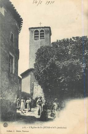 """.CPA  FRANCE 07 """"St  Jeure d'Ay, L'église"""""""