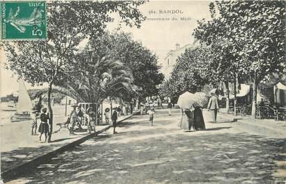 "/ CPA FRANCE 83 ""Bandol, promenade du midi"""