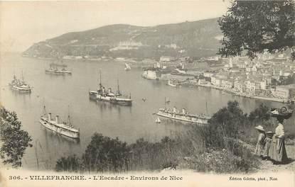 """CPA FRANCE 06 """"Villefranche, L'escadre, env. de Nice"""""""