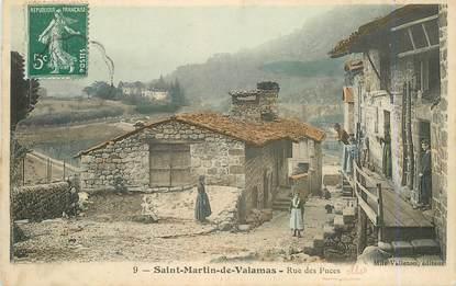 """.CPA  FRANCE 07 """"St  Martin de Valamas, Rue des puces"""""""