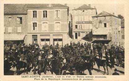 """.CPA FRANCE 07 """"St Agrève, Place de la République"""""""