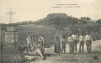 """.CPA FRANCE 07 """"St Agrève, La croix de Ribe"""""""