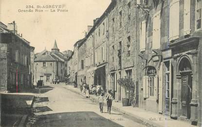 """.CPA FRANCE 07 """"St Agrève, Grande rue, la Poste"""""""