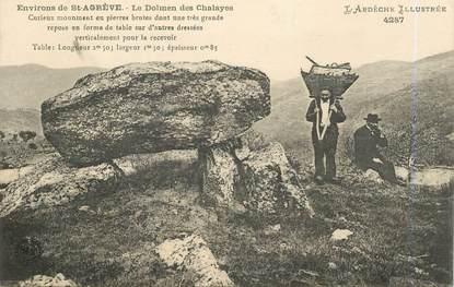 ".CPA FRANCE 07 ""St Agrève, Les dolmens de Chalayes""/DOLMEN"