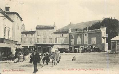 """.CPA  FRANCE  07 """"St  Péray, Place du marché """""""