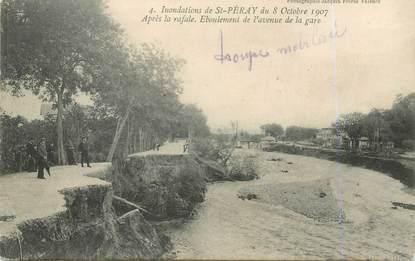 """.CPA  FRANCE  07 """"St  Péray, Eboulement de l'avenue de la gare""""/ INONDATIONS"""