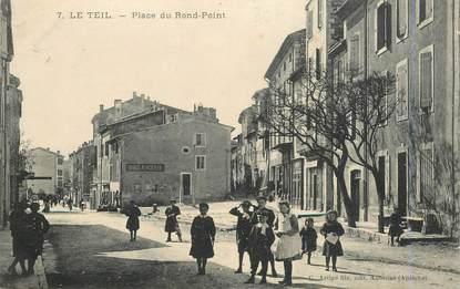 """.CPA  FRANCE  07 """"Le Teil, Place du rond point"""""""