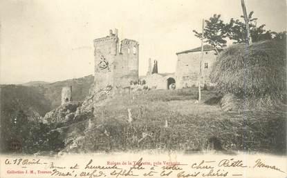 """.CPA FRANCE  07 """"Vernoux, Ruines de la Tourette"""""""
