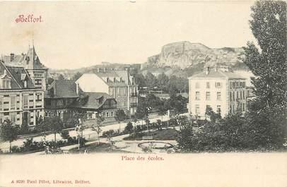 """CPA FRANCE 90 """"Belfort, Place des Ecoles"""""""