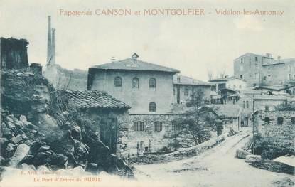 """.CPA   FRANCE 07 """"  Vidalon les Annnonay, Papeterie Canson et Montgolfier"""""""