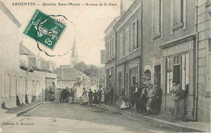 "CPA FRANCE 36 ""Ardentes, Quartier Saint Martin, avenue de la gare"""