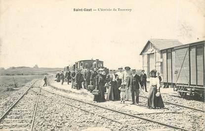 """CPA FRANCE 22 """"Saint Cast; l'arrivée du tramway"""""""