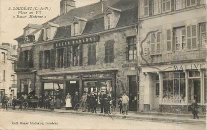 """CPA FRANCE 22 """"Loudéac, Place au Fil, le Bazar moderne"""""""