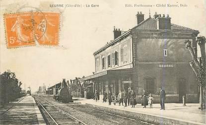 """CPA FRANCE 21 """"Seurre, la gare"""" / TRAIN"""