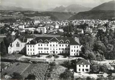 """.CPSM   FRANCE 74 """"Thonon les Bains, Vue aériienne, Institution St Joseph"""""""