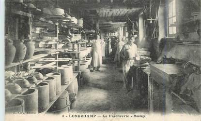 """CPA FRANCE 21 """"Longchamp, la Faïencerie, le moulage"""""""