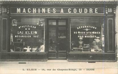 """CPA FRANCE 21 """"Dijon, commerce de machines à coudre / KLEIN"""""""