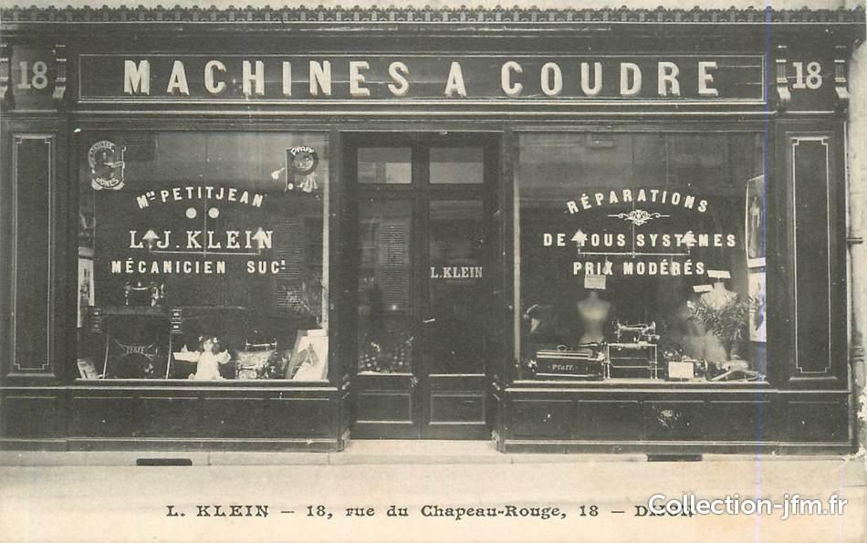 Cpa france 21 dijon commerce de machines coudre for Machine a coudre klein
