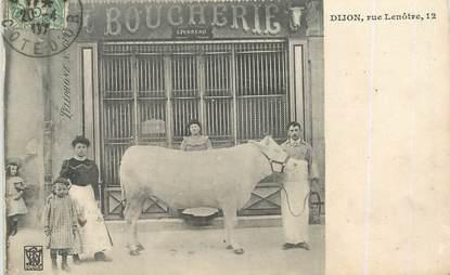"CPA FRANCE 21 ""Dijon, rue Lenôtre"" / BOUCHERIE"
