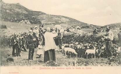 """CPA FRANCE 20 """"Bénédiction des moutons après la tonde en Corse"""""""