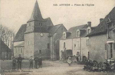 """.CPA FRANCE 36 """"Arthon, Place de l'église"""""""