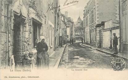 """.CPA FRANCE 36 """"Le Blanc, La Grande Rue"""""""