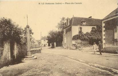".CPA FRANCE 36 ""Badecon, Place du Carroir"""