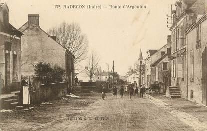 ".CPA FRANCE 36 ""Badecon, Route d'Argenton"""