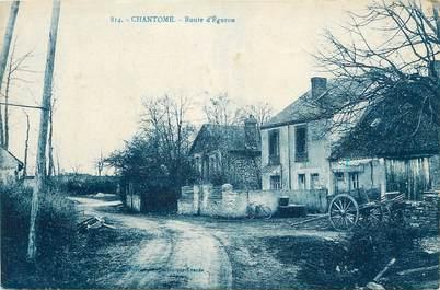 """.CPA FRANCE 36 """"Chantome, Route d'Eguzon"""""""