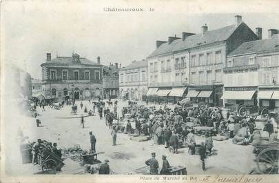 """.CPA FRANCE 36 """"Châteauroux, Place du Marché au  blé"""""""