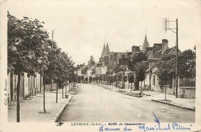 """.CPA FRANCE 36 """"Levraix, Avenue du Maréchal Pétain"""""""