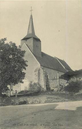 ".CPA FRANCE 36 ""Le Pin, L'église"""