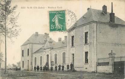 """.CPA FRANCE 36 """"Saint Maur, Mairie et Ecole"""""""
