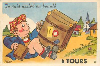 """CPA FRANCE 37 """"Tours"""" / CARTE A SYSTEME"""