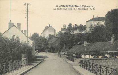 """.CPA FRANCE 37 """"Châteaurenault, La Route d'Amboise, le Tourniquet"""""""