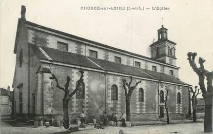 """.CPA FRANCE 37 """"Chouzé sur Loire, L'église"""""""