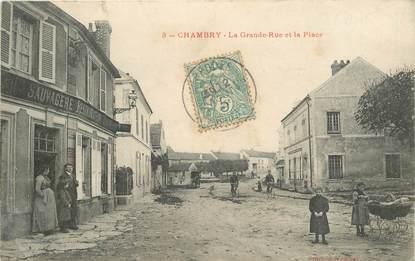 """CPA FRANCE 77 """"Chambry, la grande rue et la place"""""""