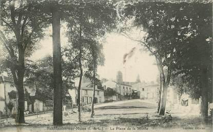 """.CPA FRANCE 37 """"Montfaucon, La Place de la Motte"""""""