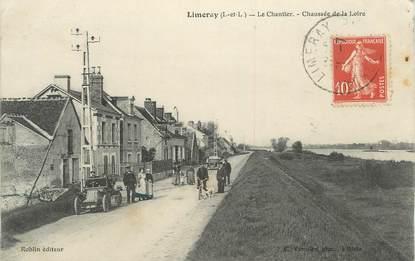 """.CPA FRANCE 37 """"Limeray, Le chantier chaussée de la Loire"""""""
